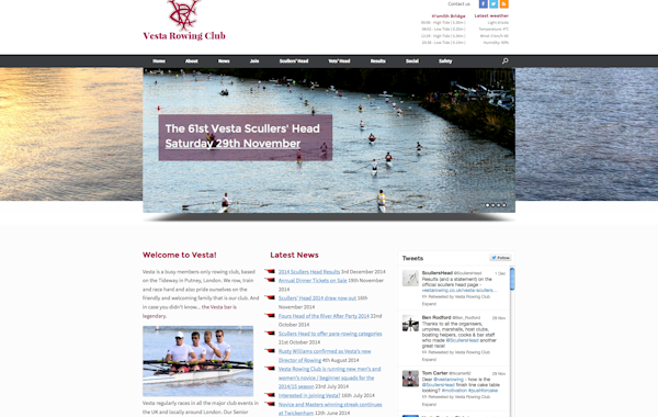 Vesta Rowing Club home