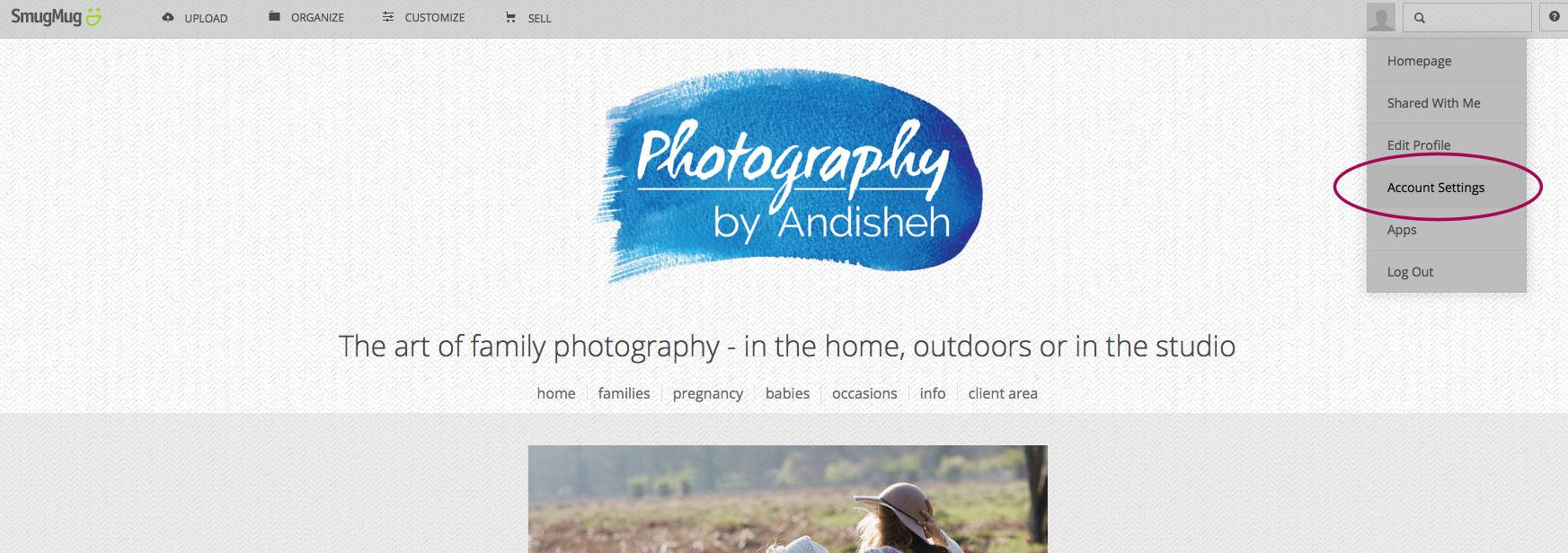 Use your own domain on a SmugMug photography website | Gillyfleur